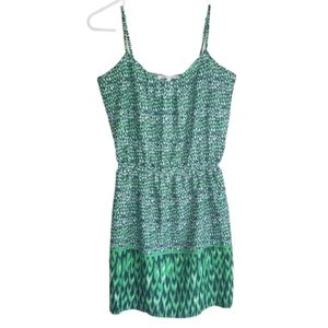 Collective Concepts Green Navy Printed Mini Dress